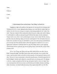 Critical analysis essay   Academic essay