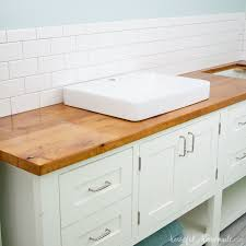 how to build protect a wood vanity top
