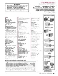 Applies To Replacement Parts For Form P Rg Rp Rbl 4 16