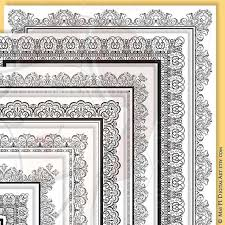 Certificate Borders For Word Magnificent 48x48 Certificate Border Frames VECTOR Clip Art Vintage Etsy