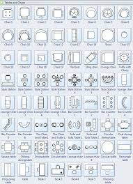 Symbols For Floor Plan  Tables And ChairsFloor Plan Chair