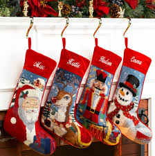 Needlepoint Personalized Christmas Stocking, Frosty