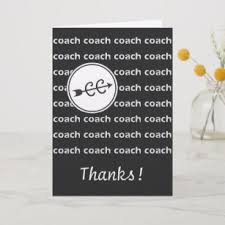 cross country running coach thanks card