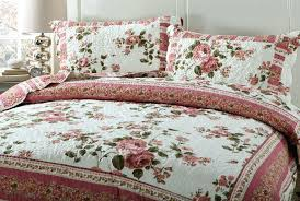 roses duvet covers bedding dainty bohemian cottage dusty fl quilted bedspread set rose gold cover queen