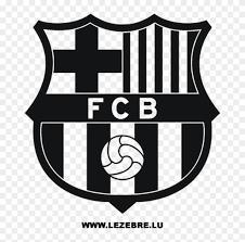 Fc barcelona png images for free download Fcb Black Logo Fc Barcelona Logo Black And White Png Clipart 2171192 Pikpng