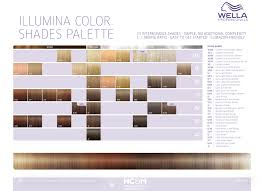 Illumina Hair Color Chart Wella Professionals Illumina Color Shades Palette 34 Shades