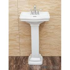 bathroom pedestal sinks.  Sinks Quickview Fine Fixtures Roosevelt Vitreous China 19 Intended Bathroom Pedestal Sinks I