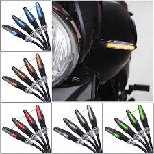 LASPERAL <b>4Pcs Universal Flowing Water</b> Flicker LED Motorcycle ...