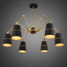doracy modern spider chandelier 3 light 6 light metal cone light shade pendant