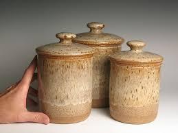 pottery canister sets kitchen