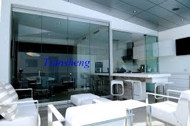 interior frameless glass door. High Quality Stacking Sliding Glass Doors Folding Partition Wall Frameless Door Double Pane Interior