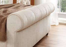 upholstered leather sleigh bed. Best Tufted Sleigh Bed For Your Modern Bedroom Design Ideas: Elegant Beige Upholstered Leather