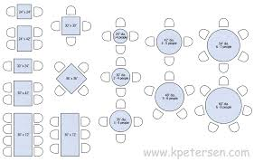 restaurant table sizes drawing plan view