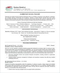 Sample Of Teaching Resume. Elementary Teacher Resume Sample ...