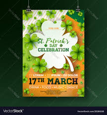 Green Party Flyer Saint Patricks Day Party Flyer With