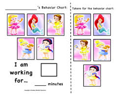 Disney Princess Behavior Chart Disney Baby Princess Token Behavior Chart