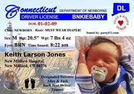 License Driver's Personalized Announcements Birth And Invitations