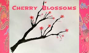 cherry blossom blow painting tutorial