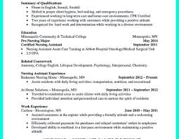 Samples Of Cna Resumes Wonderful Resume For Pics Photos Examples