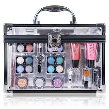 shany carry all trunk makeup case cosmetic gift set amazon co uk beauty