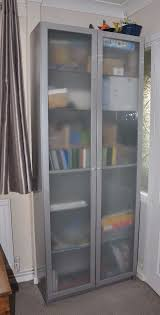 ikea cabinet bookcase bookshelves with frosted glass doors