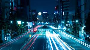 city lights, tokyo, japan 4k ...