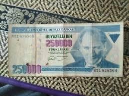 Aktueller wechselkurs von euro eur und türkische lira try mit chart, historischen kursen und news auf börse online. 250000 Turkische Lira Ebay