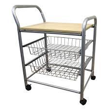 New Kitchen Storage New Kitchen Storage Wood Utility Cart Rolling 4 Tier Metal Baskets