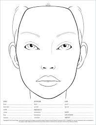 mac face chart template 20 new makeup face charts template mac face chart template