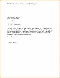 Letter Of Recommendation New Njhs Recommendation Letter Example