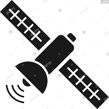 Satellite Icon Design Template Vector Isolated Illustration Stock