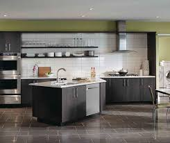 Dark gray kitchen cabinets by Kemper Cabinetry ...