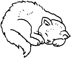 Small Picture Sleepy Coloring Pages For Kids Cat Animal Coloring pages of