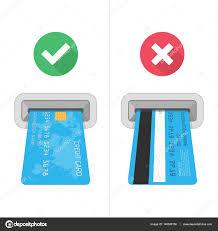 How To Insert Credit Card In Atm Stock Vector Art Sonik