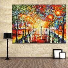 new pure manual painting knife home decoration painting oil painting on home decoration street scenery handpainted wx15041105 home decor lab your home