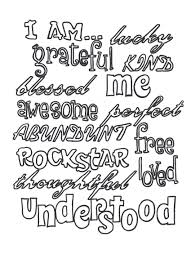 Small Picture I amself love affirmations coloring page Click on link to