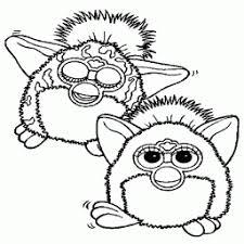 Kleurplaat Furby 2furbys Kleurplaatarchiefnl