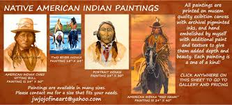 american indian painting four of my paintings of native american indians joanne witalec