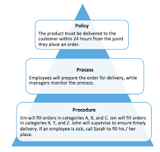 what are policies vs processes vs procedures tightship policy process procedure