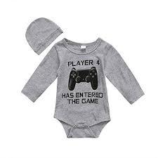 The Game Headwear Size Chart Amazon Com Cute Infant Newborn Baby Boy Girl Long Sleeve