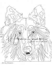 Collie Hond Kleurplaten Pagina Liefde Honden Vol 1 Etsy