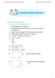 Soal uts kelas 3 semester 1 sesuai kurikulum 2013 ini disusun menggunakan file pdf. Pdf Soal Matematika Sd Kelas 3 Semester Maulin Linda Academia Edu