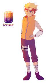 Boom you're gay now — Naruto and Sasuke's fusion! Their gem would be...