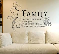 living room wall decals family like branches es erfly vinyl wall art sticker flower decals mural living room wall decals
