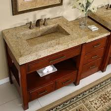 stylish modular wooden bathroom vanity. Silkroad 56 Inch Modular Bathroom Vanity Granite Top Hyp 0217 Stylish Wooden A