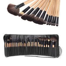 abody 32pcs pro makeup brushes set cosmetic makeup tool kit fundation eyeshadow brushes lip powder eyebrow brush with bag in eye shadow applicator from