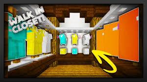 Minecraft Closet Design Minecraft How To Make A Walk In Closet