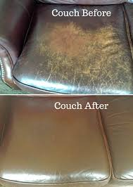 the couch before and after i conditioned it using evoo ve used with regard to how fix ripped leather sofa decor 13