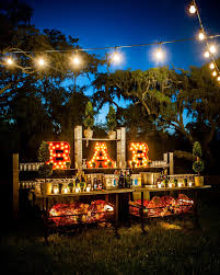 outside lighting ideas for parties. I Love This Idea For A Bar! Marquee Lights And Patio Lighting! Plus More Great Outdoor Lighting Ideas! Outside Ideas Parties O