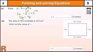 forming and solving equations gcse maths revision exam paper practice help